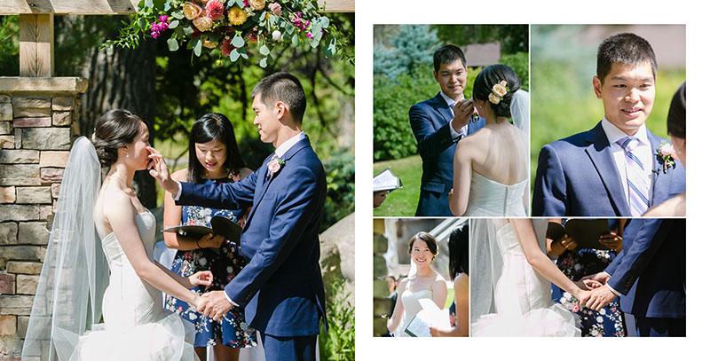 bride and groom wedding ceremony vows