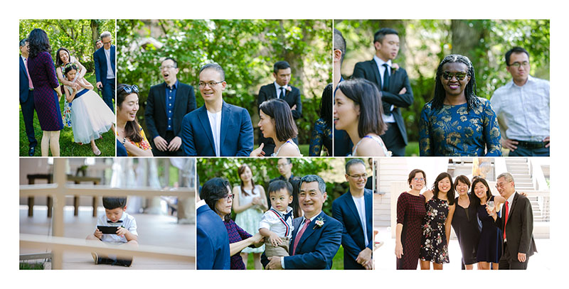 family moments at a wedding