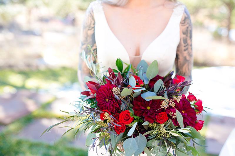 brides bouquet at wedding