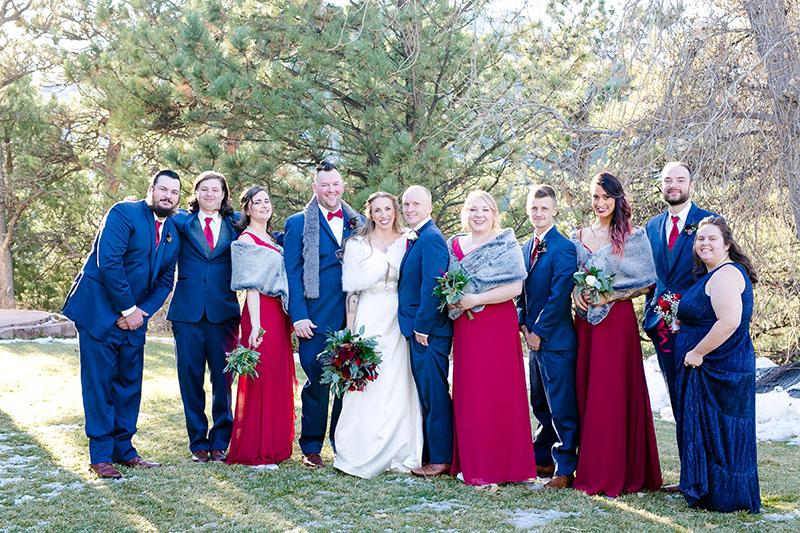 bridal party portrait wedding