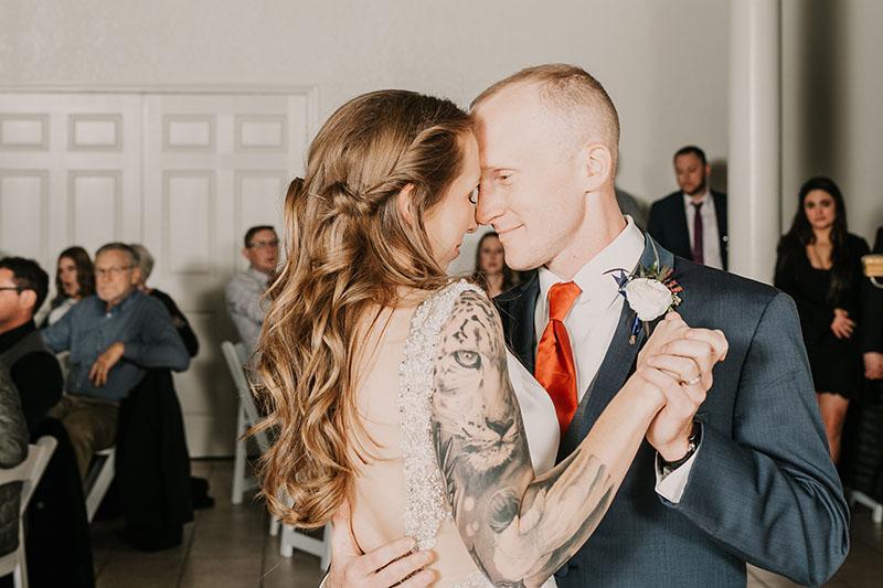birde and groom first dance wedding